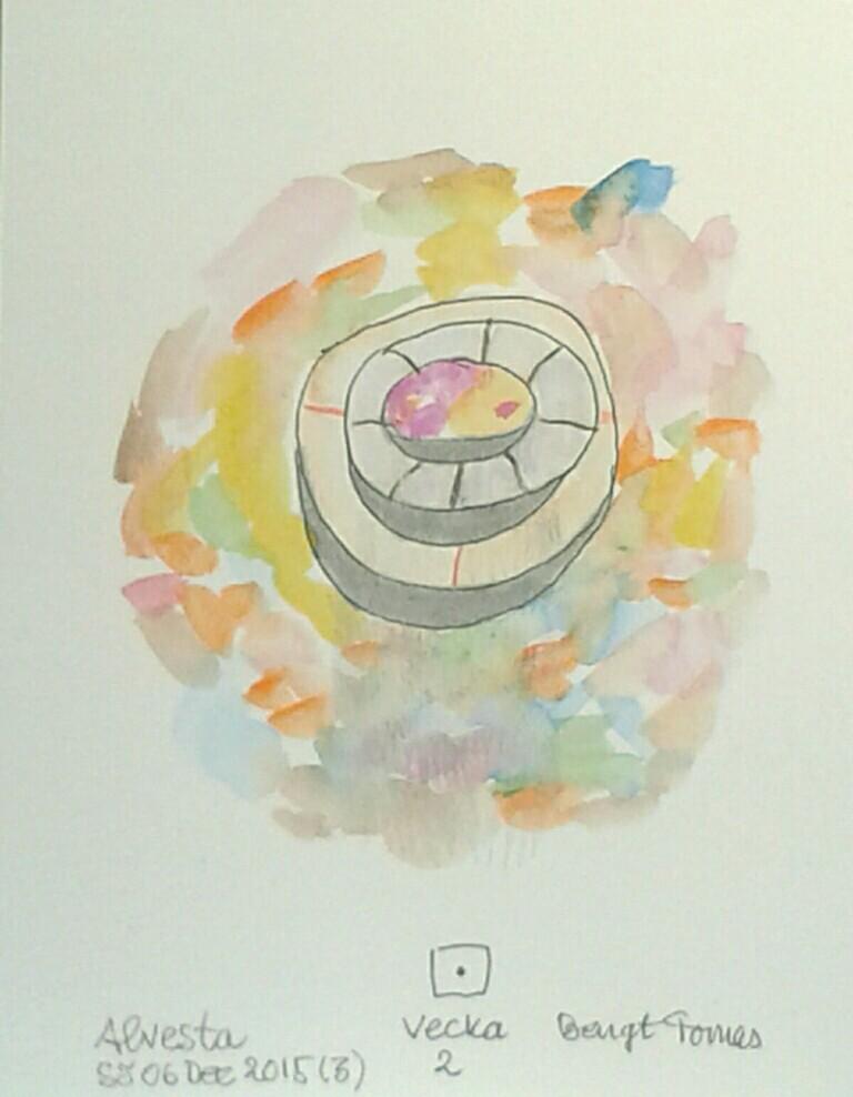 Akvarell 'Vecka 2' för frisk schizofreni